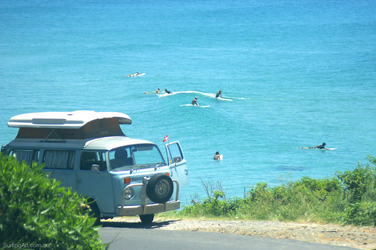 The perfect van for that surfing holiday my transporter van